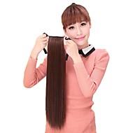 mulheres cavalinha rabo de cavalo sintético calor peruca reta fibra resistente da extensão do cabelo partido cosplay barato