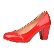 Women's Summer / Fall Heels / Round Toe Leatherette Casual / Party & Evening Chunky Heel Others Black / Red / White / Khaki