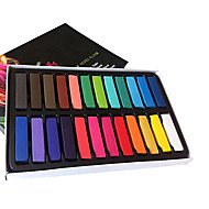 Party Decoration 24 Colors Fashion Hot Fast Non-toxic Temporary Pastel Hair Dye Color Chalk