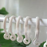 Clasic alb Curtain Clip Ring (diametru 3,5 cm) Set de 5