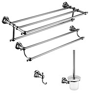 "Bathroom Accessory Set Chrome Wall Mounted L63.6×W23×H13.8 CM(L24.8""×W9.0""×H5.4"") Brass / Stainless Steel / Zinc Alloy Barroco"