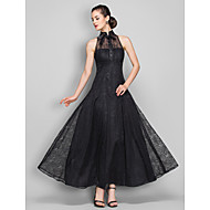 TS Couture® Formal Evening / Military Ball Dress - Black Plus Sizes / Petite A-line High Neck Ankle-length Lace