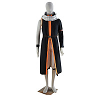 Fairy Tail Natsu Dragneel Black Polyester Cosplay Costume