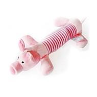 Zabawka dla kota Zabawka dla psa Zabawki dla zwierząt Zabawki do żucia Pisk Kreskówka Tekstylny Gray Yellow Różowy