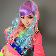 Harajuku stil Princess Syntetisk Curly Long Wig for Festival Partiet