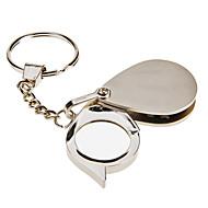 5X Mini Kannettava Folding Eye suurennuslasi Ruostumaton teräs suurennuslasi avaimenperä