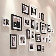 Czarny Kolor Photo Collection Ramka Zestaw 23