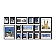 Zwarte Photo Wall Frame Collection reeks van 15