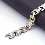 Personlig gave Mænds Smykker Rustfrit stål med gravering ID Armbånd 1.1cm Bredde