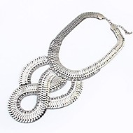 European Style Exaggerated Personality Geometric Metal Necklace(More Colors)