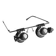 Brille Typ 20X Mikroskop / Lupe mit weiße LED-Licht