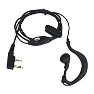 Ny 2 Pin Øresnegl Headset For Quansheng PUXING TYT Baofeng Uv5R 888S Kenwood Th Radio Billige Hi-Quality Black