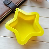 Pentacle Star Shape Cake Baking Moulds, Silicone Material, Random Color