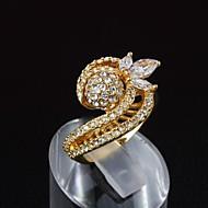 El oro elegante de latón plateado con el anillo de la mujer de cubic zirconio (más colores)