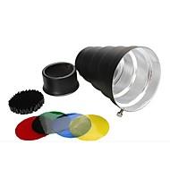 스튜디오 빛을위한 색깔 젤 / 벌집 알루미늄 합금 원뿔 Snoot의