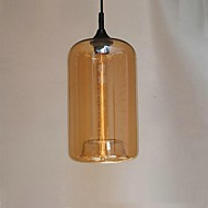 Bottle Design Pendant, 1 Light, Minimalist Iron Painting