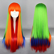 Harajuku  Style Cosplay Synthetic Wig Lolita Long Straight Wig  Mixed  Color