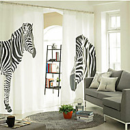 Two Panels Curtain Designer , Animal Bedroom Linen / Cotton Blend Material Curtains Drapes Home Decoration For Window