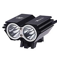 Osvětlení Čelovky LED 2000 Lumenů 3 Režim Cree XM-L2 T6 18650 Voděodolný / Dobíjecí / Ultra lehké / Kompaktní velikost / MaléKempování a