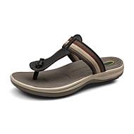 Men's Spring / Summer / Fall Comfort Leather Casual Flat Heel Black / Brown