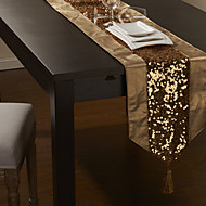 Paillettes d'or embelli Chemin de Table