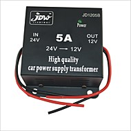 JD1205 DC 24V til 12V Car Power Supply Converter - Svart