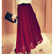 Women's Black/Red Skirts , Sexy/Casual/Party Maxi