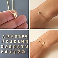 Dames Bedelarmbanden Uniek ontwerp Vriendschap Modieus Eenvoudige Stijl Initial Jewelry Legering Sieraden V W X Y Z Sieraden VoorFeest