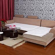 elaine kort plysj bordure lotus mønster hvit sofa pute 334025