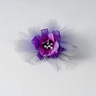 Fleurs Casque Mariage/Occasion spéciale/Casual Tulle/Soie Femme/Jeune bouquetière Mariage/Occasion spéciale/Casual