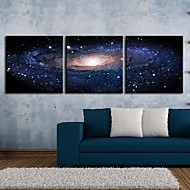 Stretched Canvas Art Fantasy Sky Set om 3
