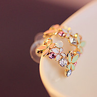 Earring Stud Earrings Jewelry Women Party / Daily / Casual Alloy Gold / Light Green / Red / Purple / Pink