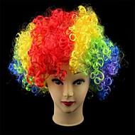 Partie Coupe du Monde Afro Cosplay de Noël multicolore clown Perruques