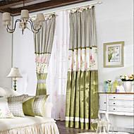 страна две панели цветочный ботанические зеленых шторы шторы спальня