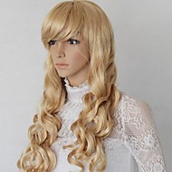 28 Inch Blonde Color Synthetic Fashion Lady Wig with Adjustable Size Cap