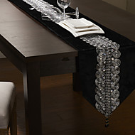 Black / Silver Rectangular Table Runners