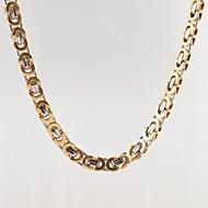 בגדי ריקוד גברים שרשרת פלדת טיטניום ציפוי זהב תכשיטים עיצוב מיוחד אופנתי כסף מוזהב תכשיטים יומי קזו'אל Christmas Gifts 1pc