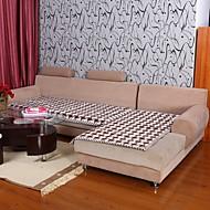 elaine bomull kf sjekk mønster bordure kaffe sofa pute 333588