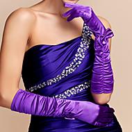 Elbow Length Fingertips Glove Satin Party/ Evening Gloves