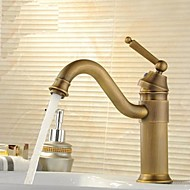 Centerset Single Handle Antique Brass Bathroom Sink Faucet