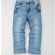 Jungen Jeans - Baumwolle / Polyester / Elasthan einfarbig Ganzjährig