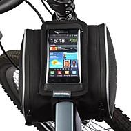 Bolsa de Bicicleta 1.8LBolsa para Quadro de Bicicleta Bolsa Celular Prova-de-Pó Sensível ao Toque Bolsa de Bicicleta Pele PU Poliéster PVC