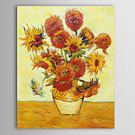 Hand Painted Oil Painting Masterpiece Reproduction  Vincent Van Gogh Reproduction Sunflower with Stretched Frame