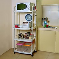 BYN 4-rétegű DIY Mobile Kitchen Trolley