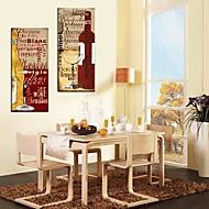 Canvastaulu taide Asetelmat Wine Kulttuuri Set of 2