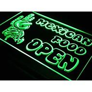 I101 OPEN mexicanske Cactus Food Bar Cafe Light Sign