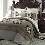 Quilt Set,7-Piece Country Style Polyster Floral