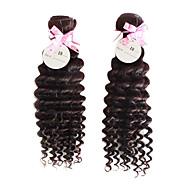 30 tommer 3pcs/lot Grade 5A brasilianske Virgin Hair Deep Curly Hair Extensions / vævninger