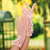 Håndledslængde Fingerdupper Handske Blonder Brudehandsker / Fest-/aftenhandsker / Generelt brug og arbejdshandskerForår / Sommer /