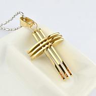 Pánské Náhrdelníky s přívěšky Titanová ocel Pozlacené Cross Shape Módní Zlatá Stříbrná Zlatá / stříbrná Šperky Denní Ležérní Vánoční dárky